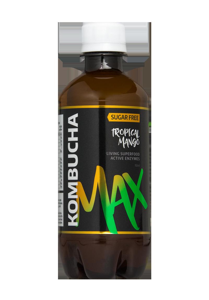 Kombucha Healthy Organic Green Tea Drink: 350ml - Tropical Mango
