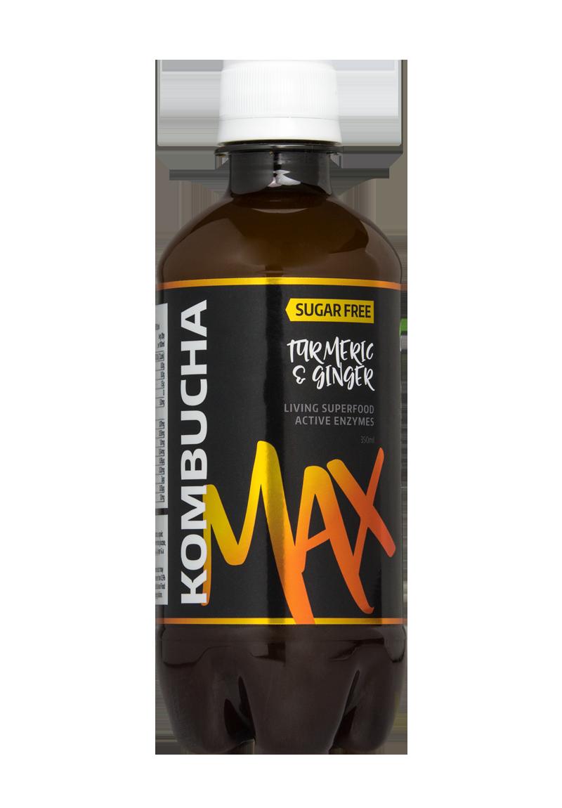 Kombucha Healthy Organic Green Tea Drink: 350ml - Turmeric & Ginger